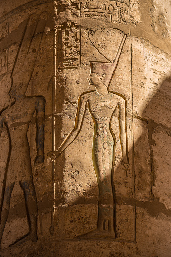 614744994 istock photo Gods Egypt carvings 576556716