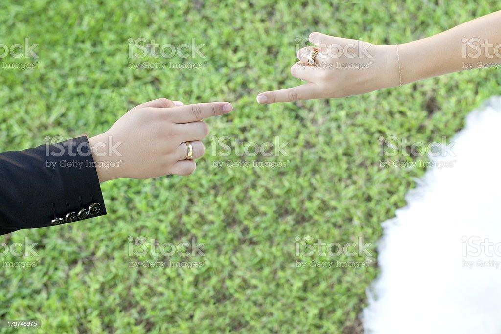 God's hand royalty-free stock photo