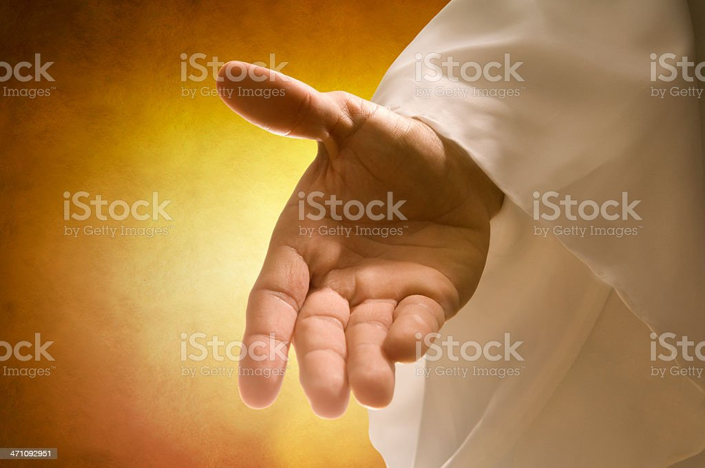 God's hand (two) stock photo