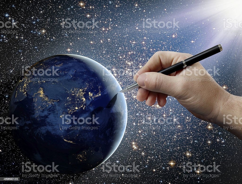 God's intervention in human affairs on Earth. royalty-free stock photo