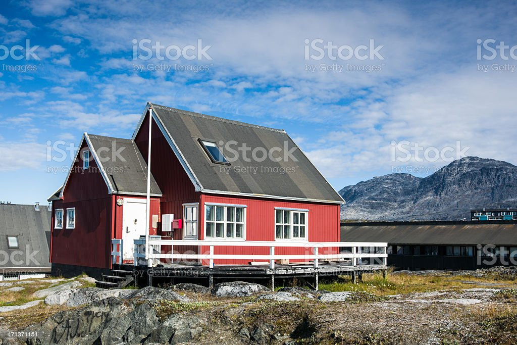 Godthab Home, Nuuk Greenland royalty-free stock photo