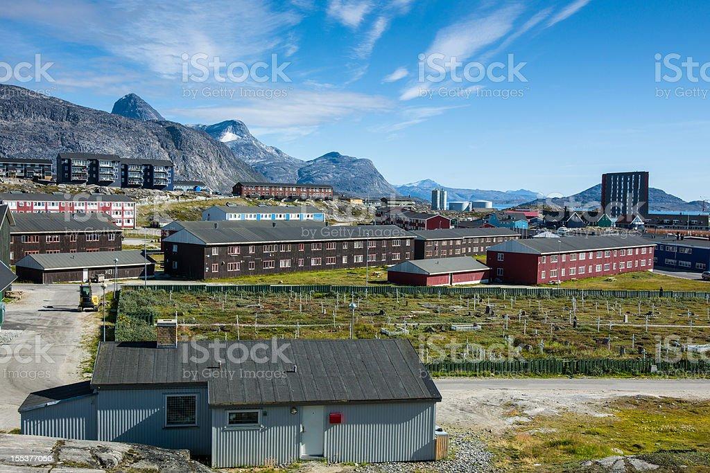 Godthab in Summer,Nuuk Greenland royalty-free stock photo