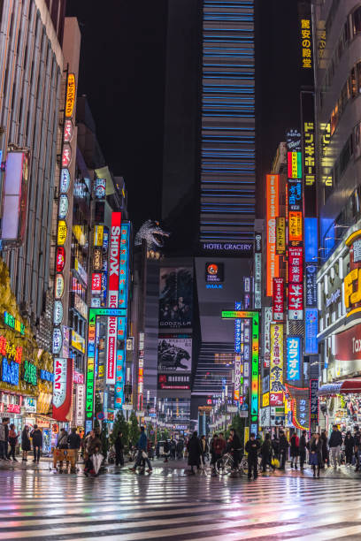 Godzilla Straße Famous platzieren in Shinjuku, Tokio – Foto