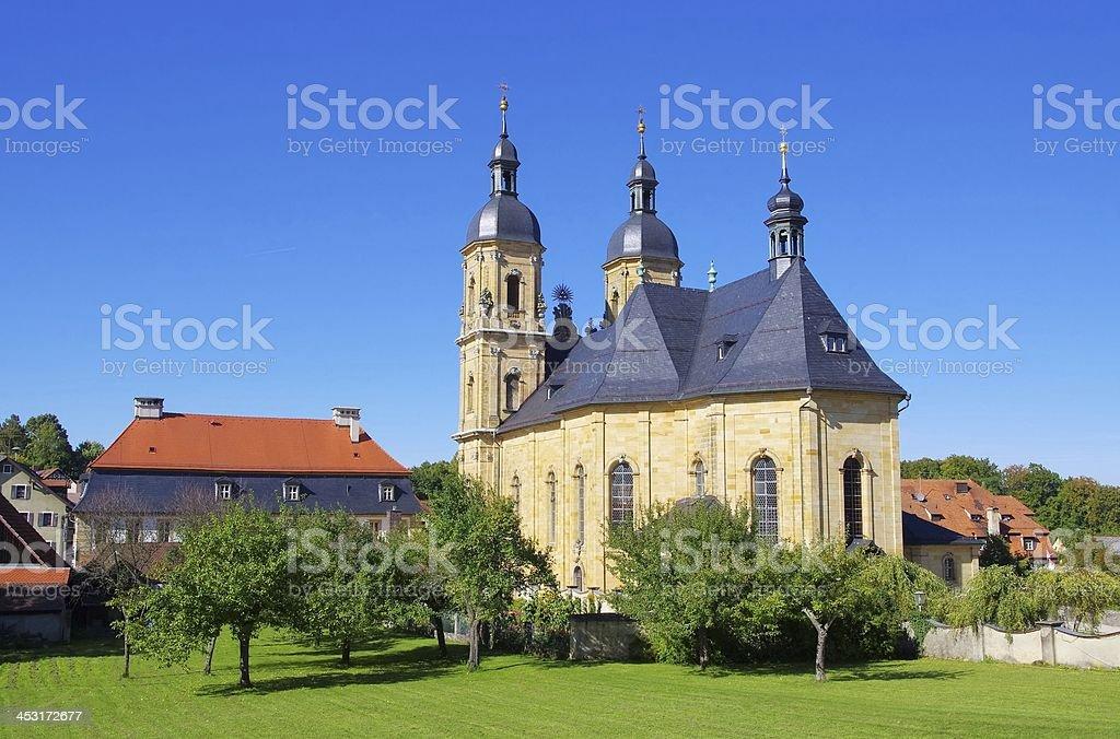 Goessweinstein church stock photo