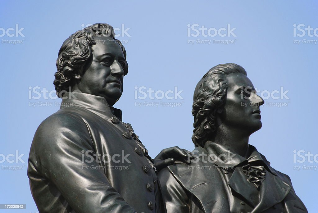 Goethe and Schiller royalty-free stock photo