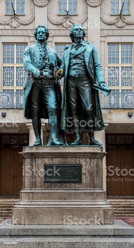 Goethe and Schiller stock photo