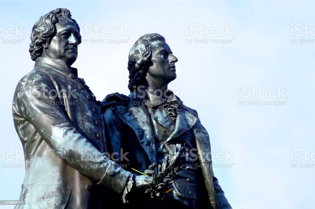 Goethe & Schiller stock photo