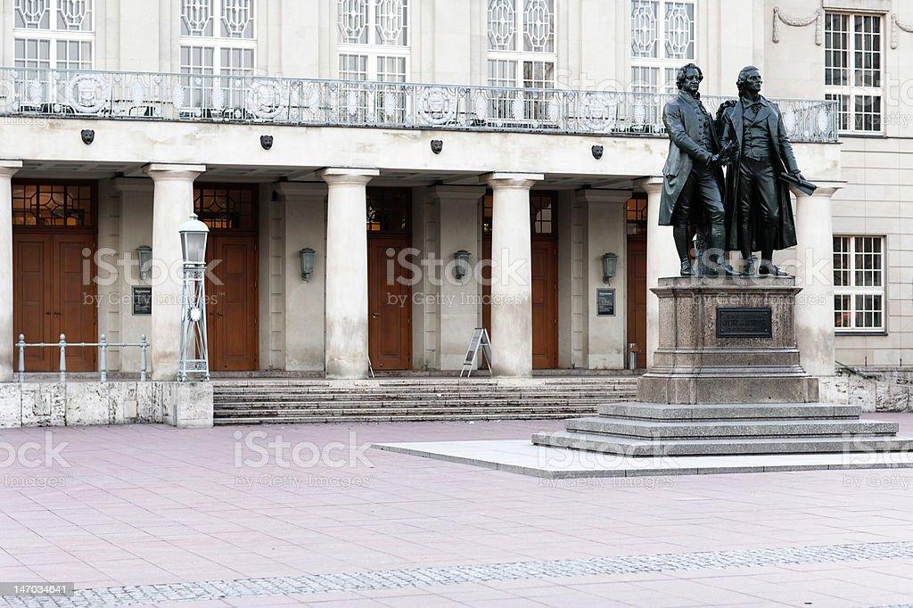 Goethe & Schiller - Weimar stock photo