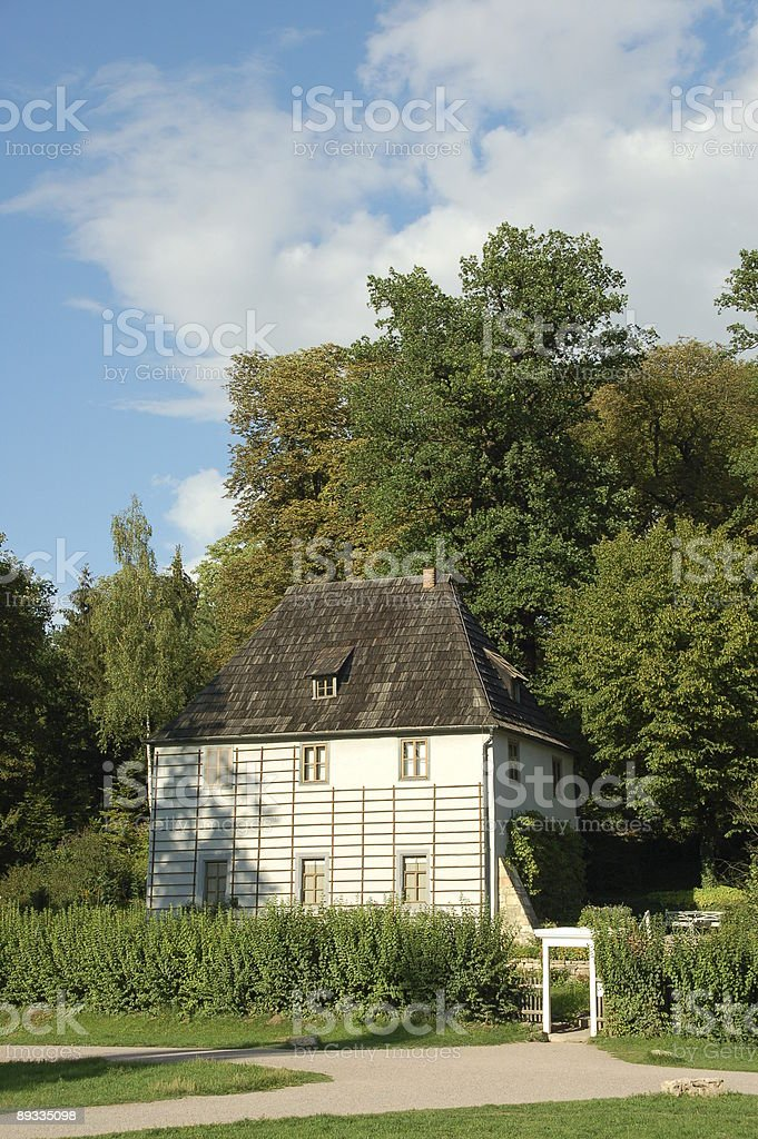 Goethes Summer House, Weimar stock photo