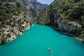 Canyon of Verdon River, France.