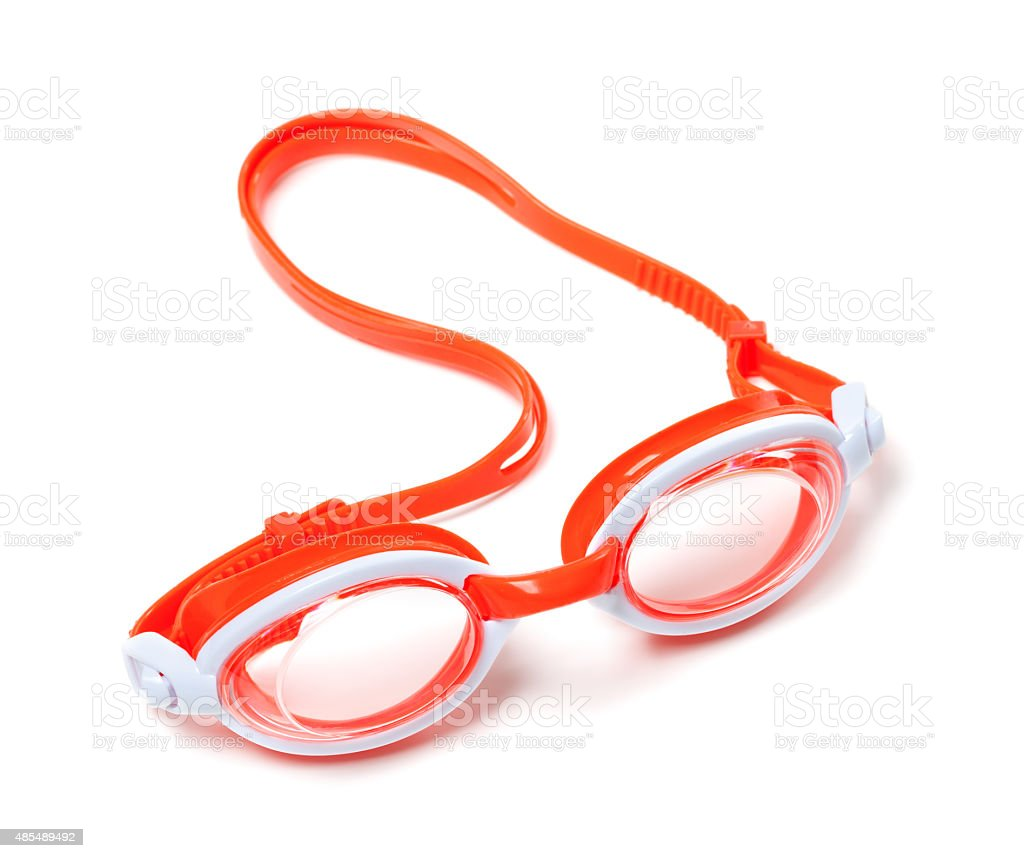 Goggles for swimming stock photo