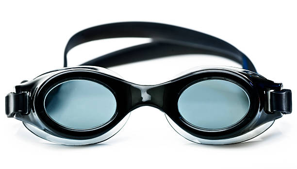 Goggles Black swimming goggles on white background (this picture has been shot with a 31 megapixels super high definition Hasselblad HD3 II camera). swimming goggles stock pictures, royalty-free photos & images