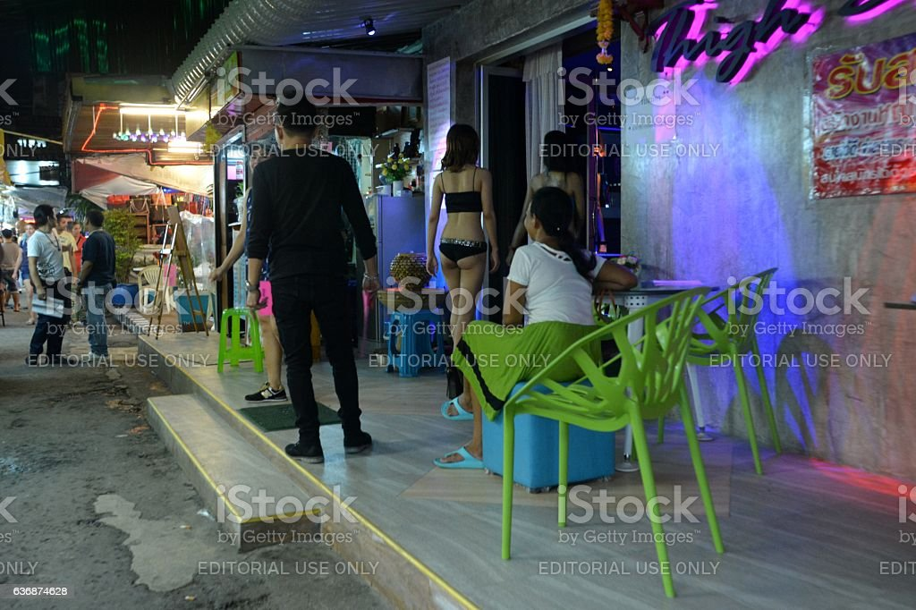 Gogo bar in Patpong red light district, Bangkok, Thailand stock photo