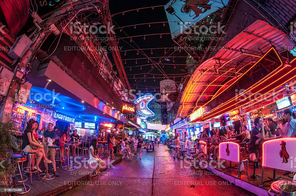GoGo Bars In Soi Cowboy, Bangkok, Thailand stock photo