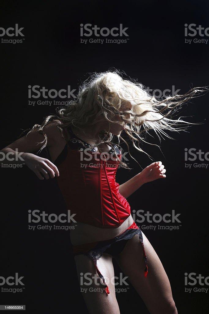 go-go dancer royalty-free stock photo