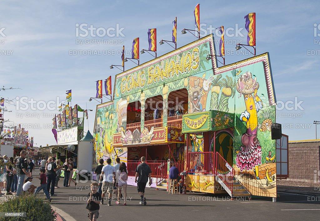 Going Bananas Funhouse stock photo