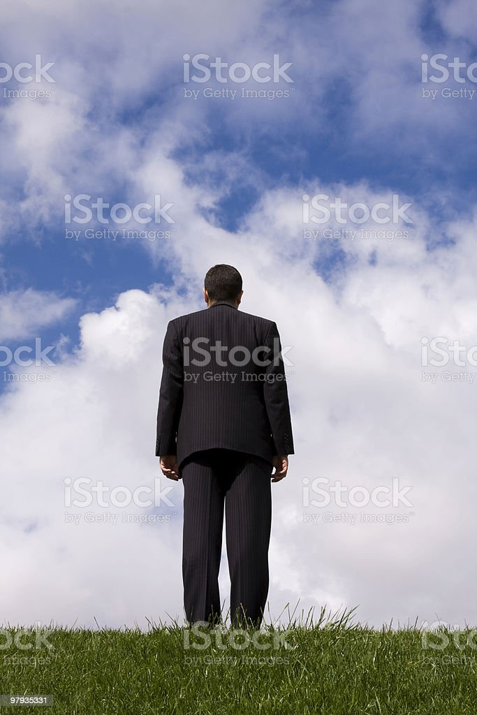 Going businessman royalty-free stock photo