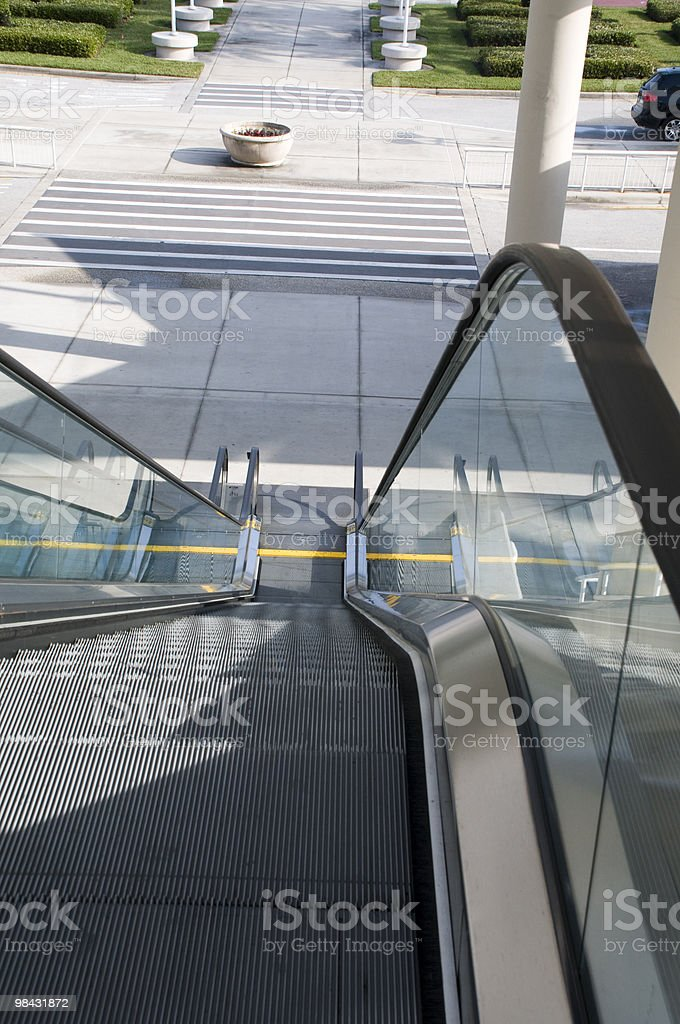 Going Down the Escalator royalty-free stock photo