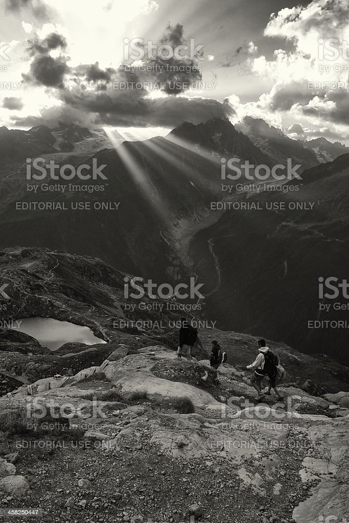 Going Down the Mountain royalty-free stock photo
