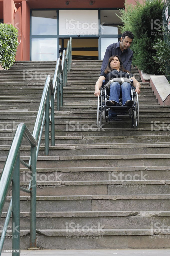 Going downstairs royalty-free stock photo