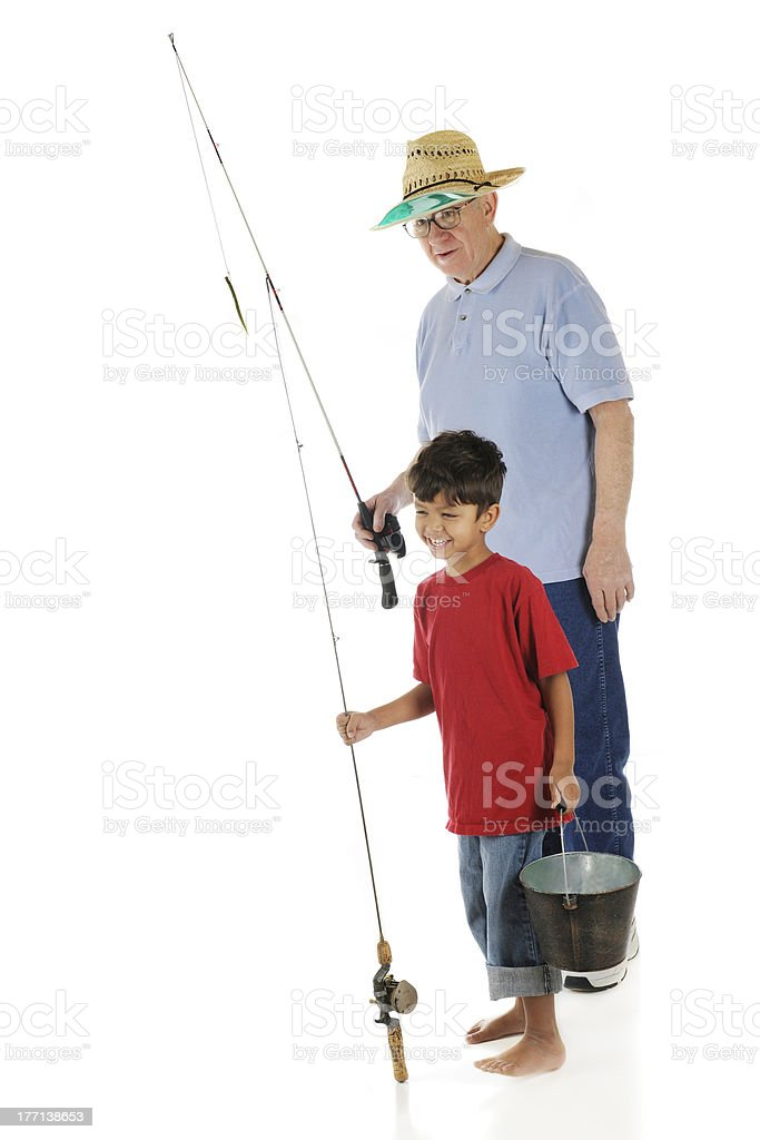 Going Fishing with Grandpa stock photo