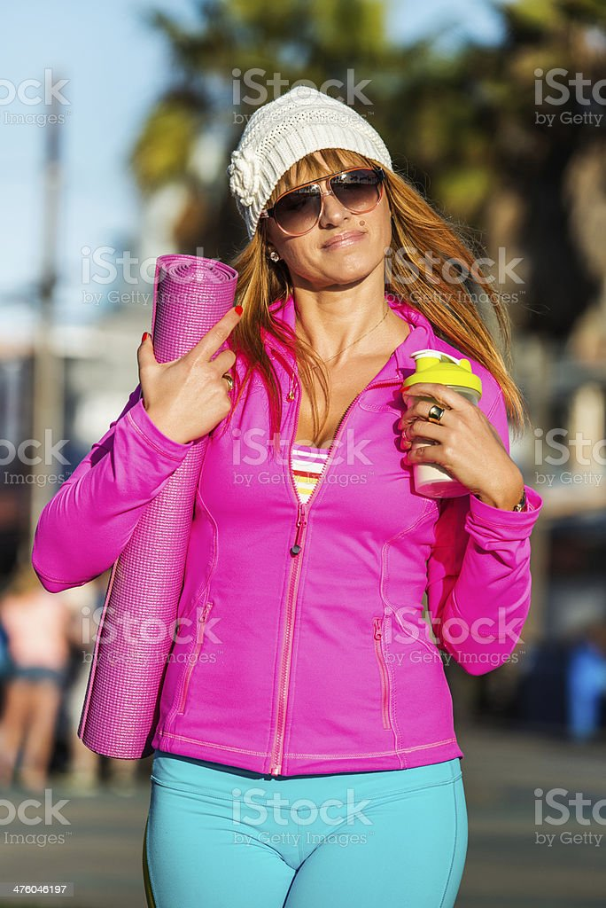 Going fitness royalty-free stock photo