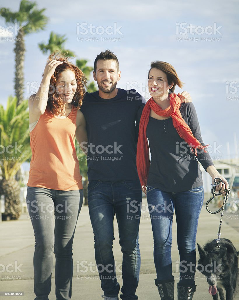 Going for a walk royalty-free stock photo
