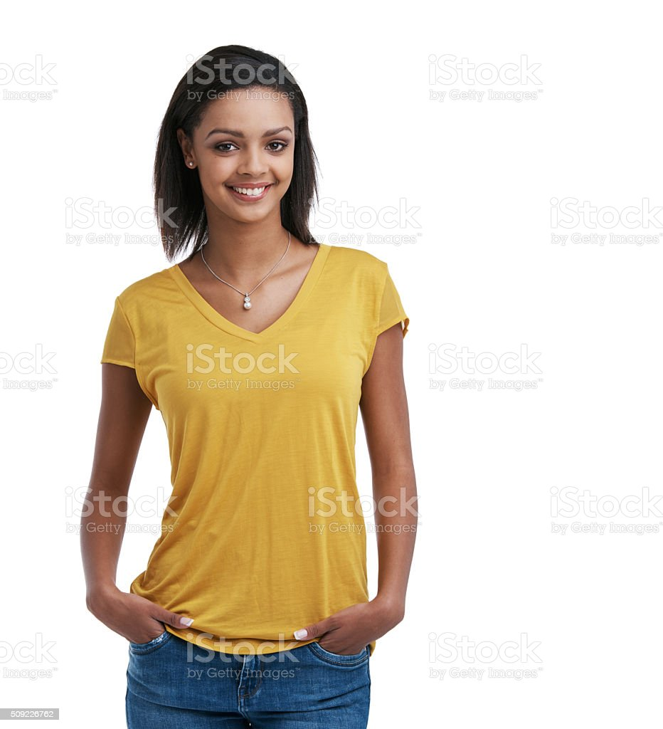 Going for the casual look today stock photo