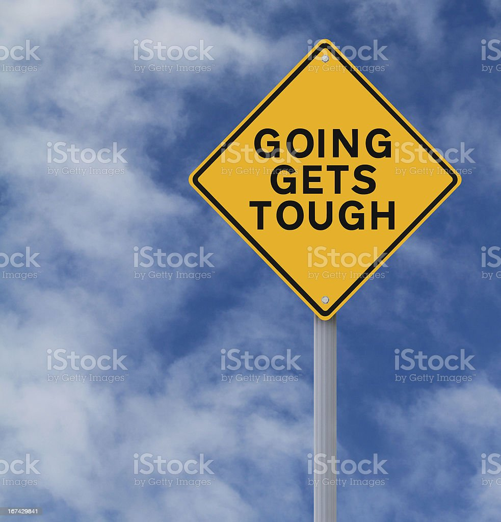 Going Gets Tough royalty-free stock photo