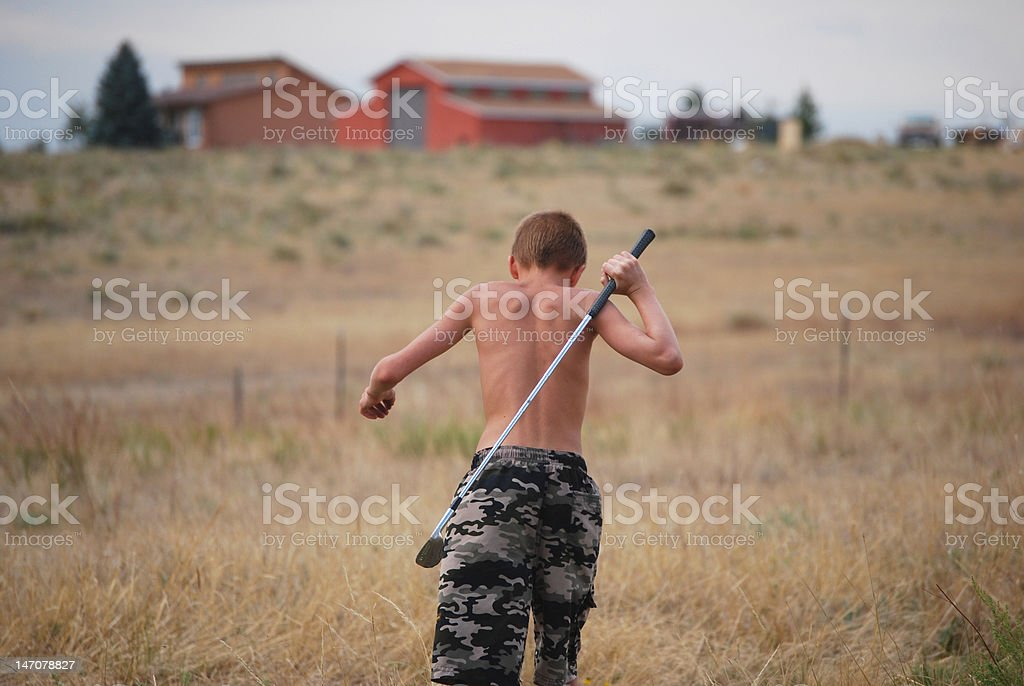 going golfing royalty-free stock photo