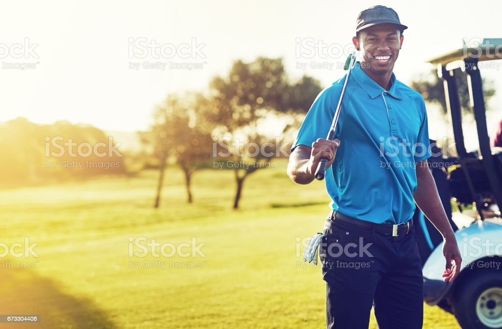 Going golfing today and it's gonna be good stock photo
