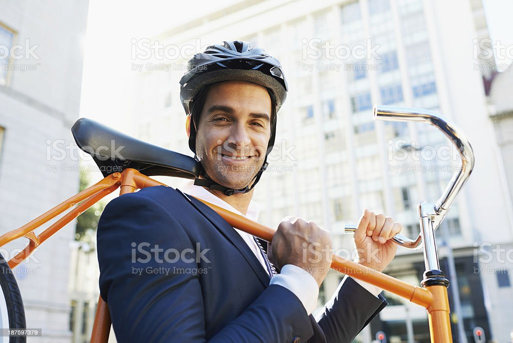 Going green is my new business stock photo