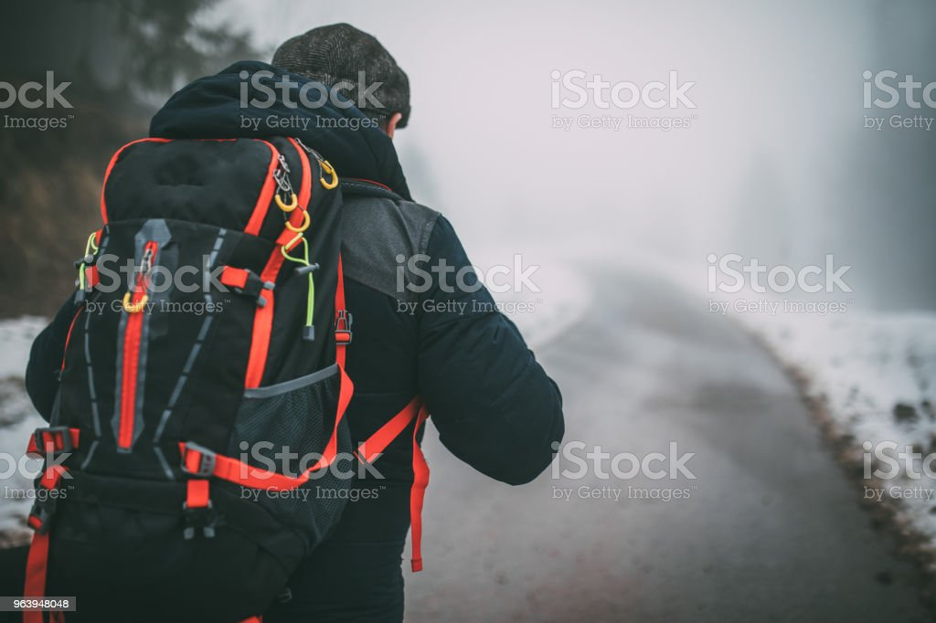 Going hiking on winter day - Royalty-free Active Seniors Stock Photo