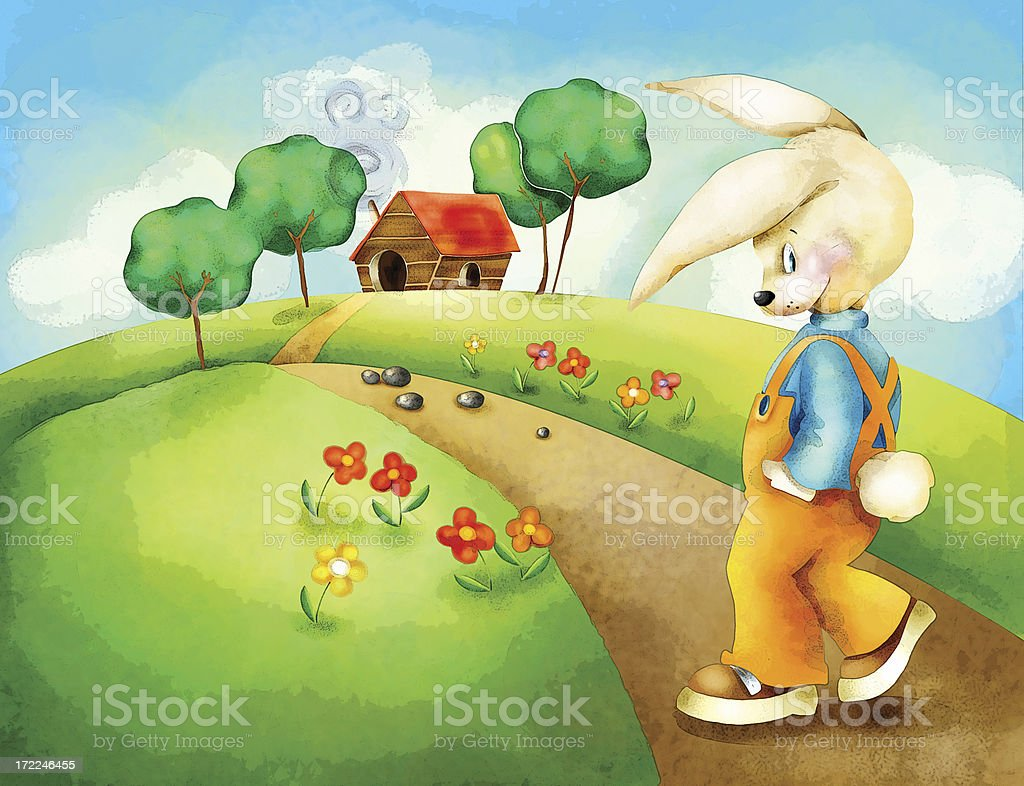 Going home bunny stock photo