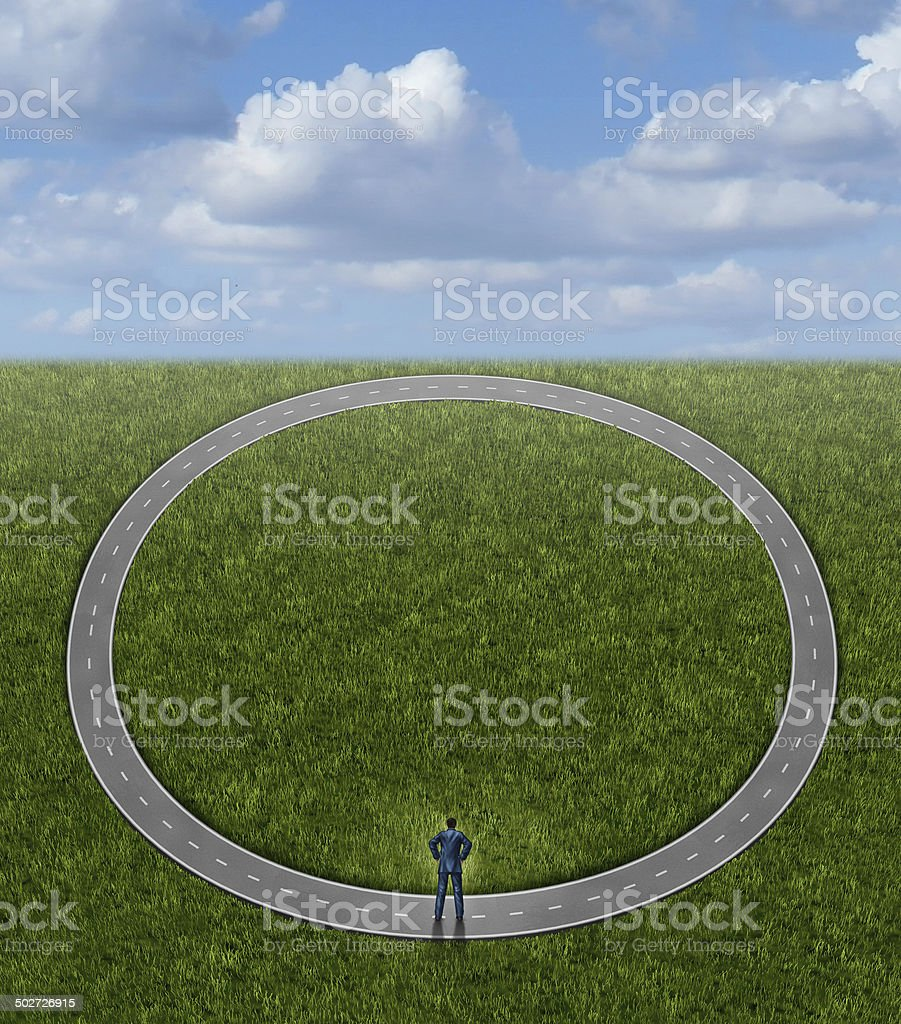 Going In Circles stock photo