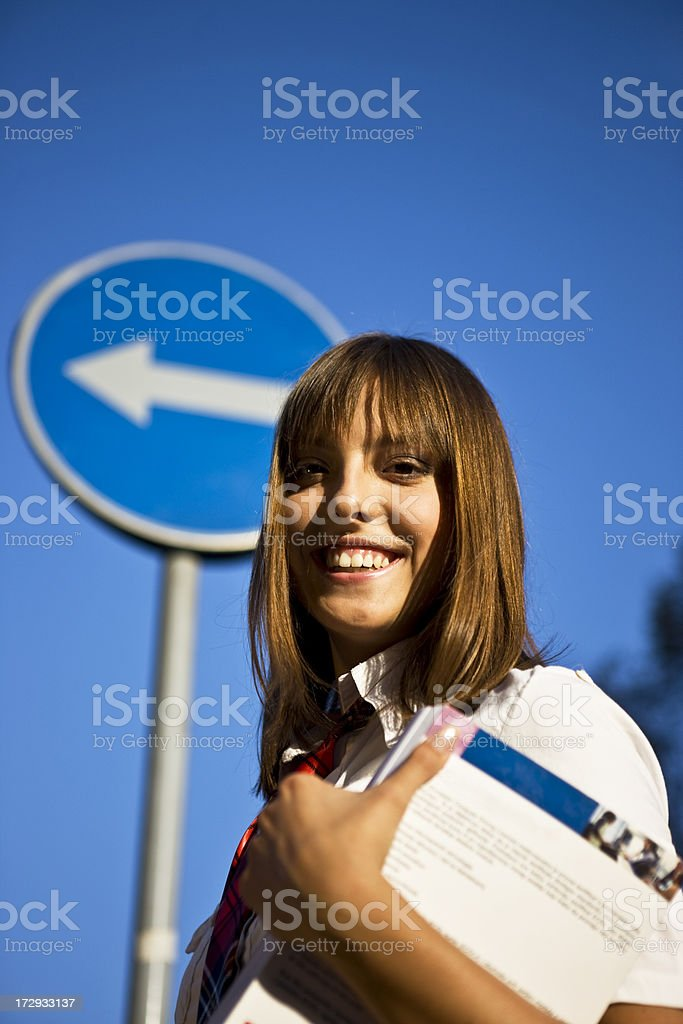 Going in right direction XXL royalty-free stock photo