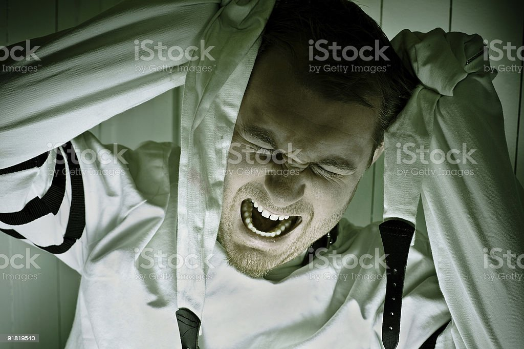 Going Mental royalty-free stock photo