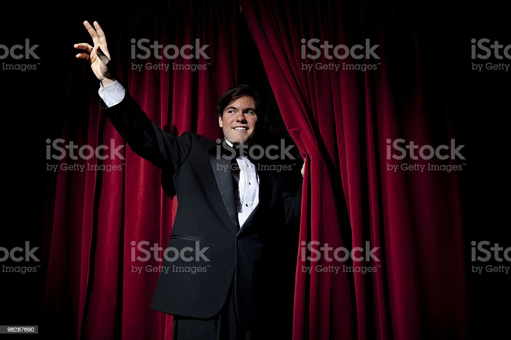 Going off Stage royalty-free stock photo