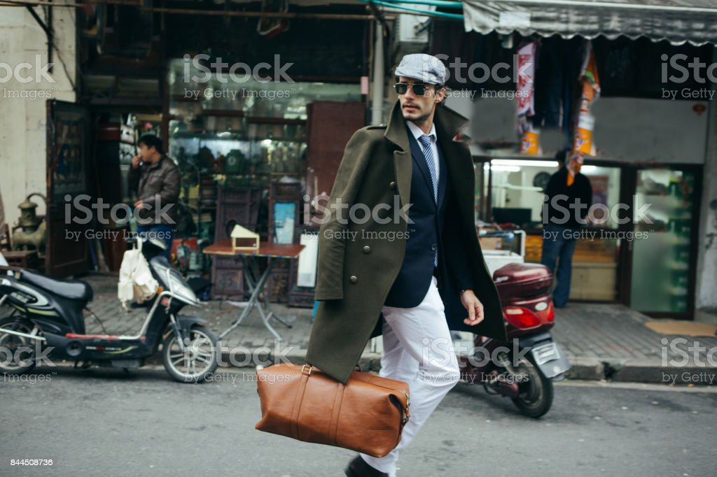Going on a business trip stock photo