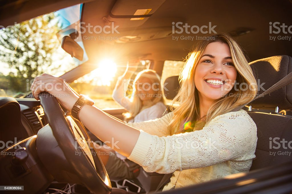 Going on a family vacation stock photo