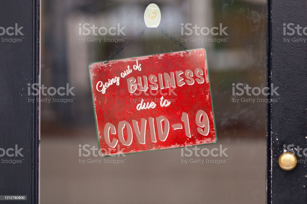 Going out of business due to Covid-19 - Royalty-free Bar - Drink Establishment Stock Photo