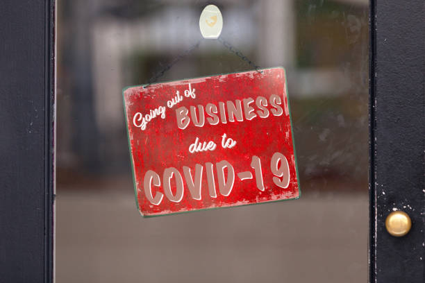 Going out of business due to Covid-19 stock photo