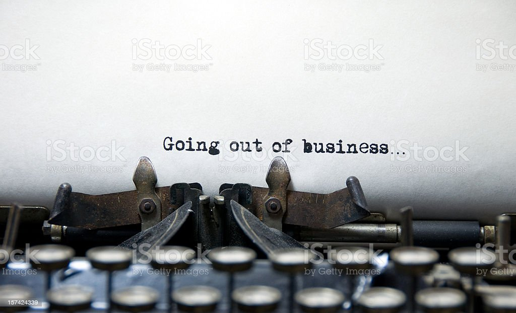 Going Out of Business royalty-free stock photo