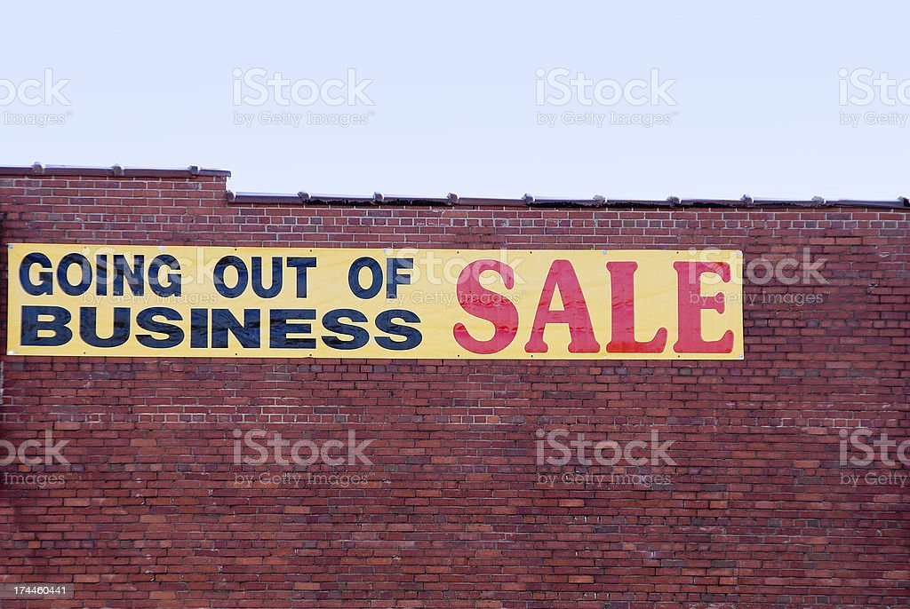 Going Out of Business stock photo