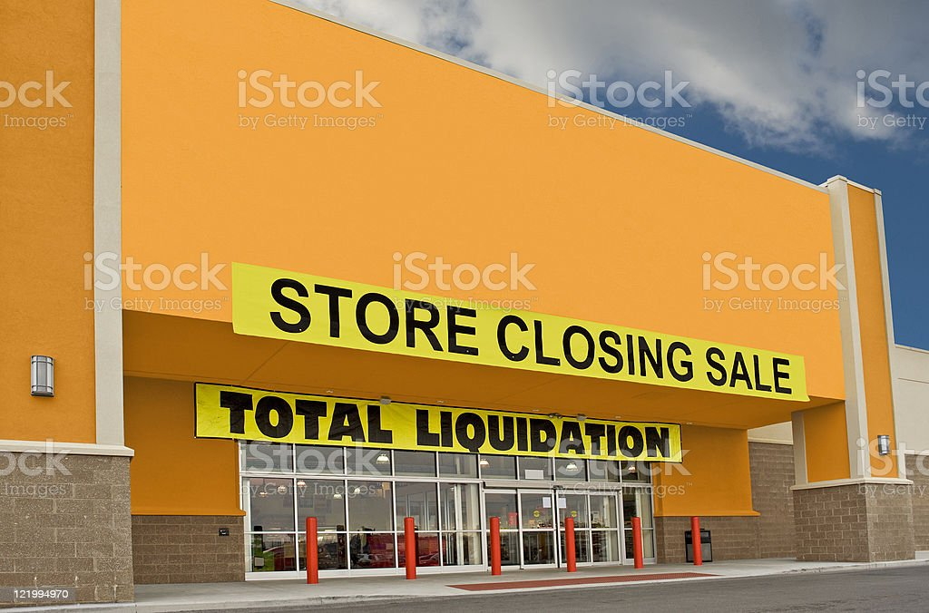 Going Out Of Business Sale stock photo