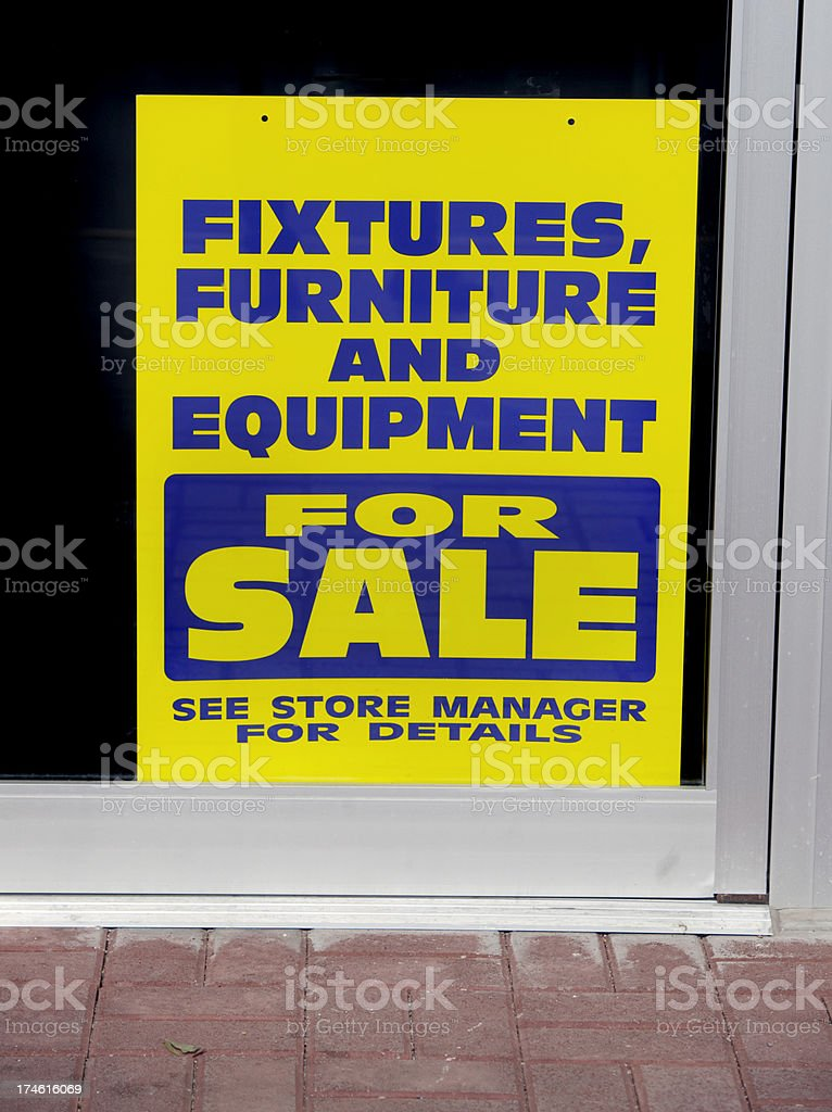 Going Out og Business Sign royalty-free stock photo