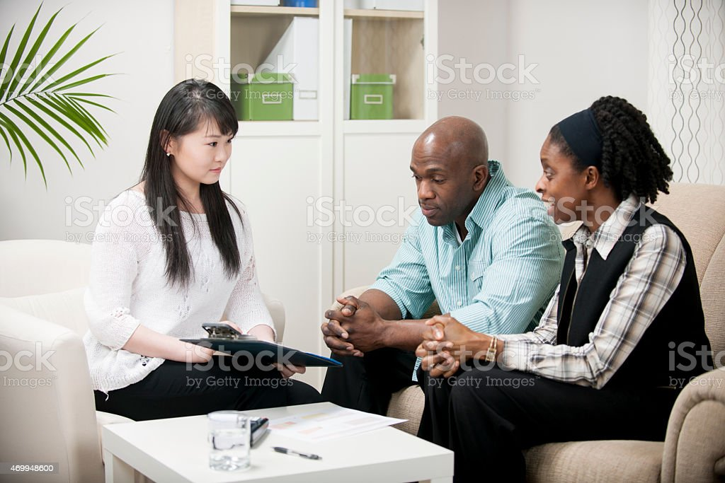 Going Over a Will stock photo