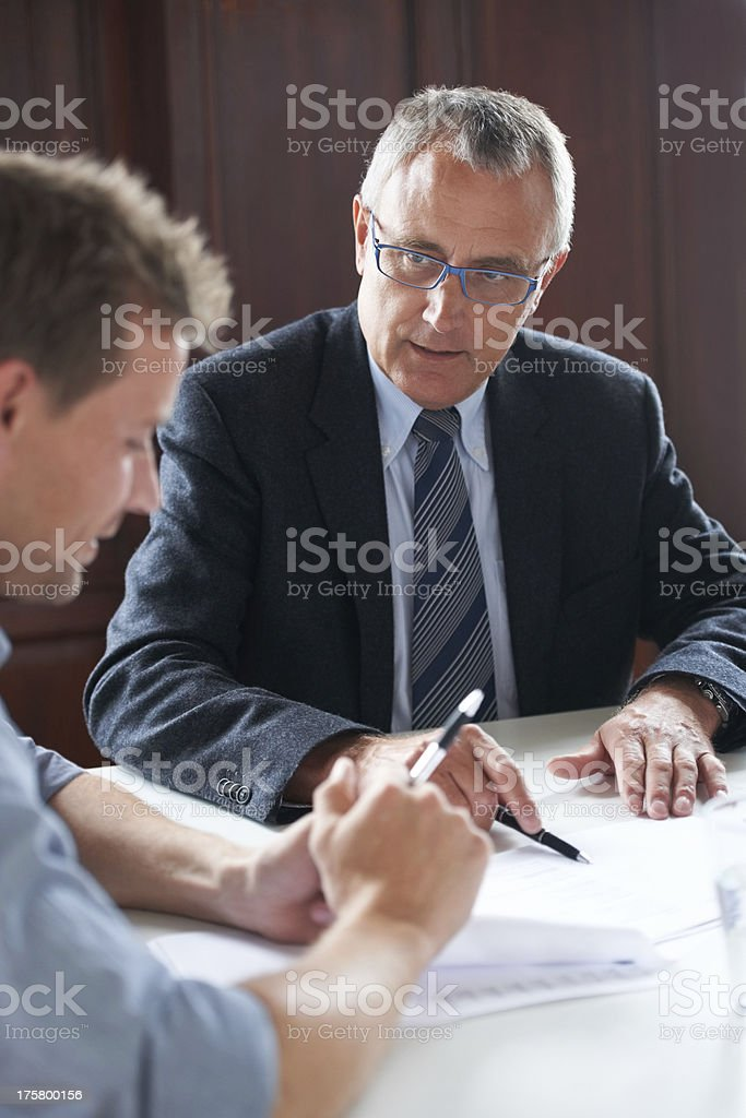 Going over assets stock photo
