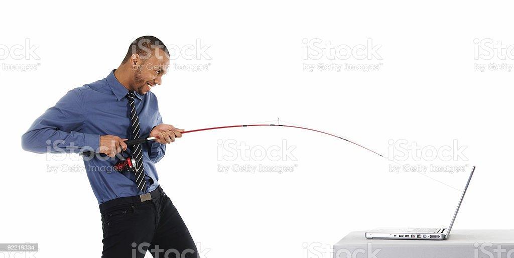 Phishing in corso - foto stock