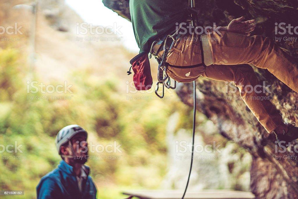 Going rock climbing Lizenzfreies stock-foto
